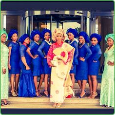 blue friendsofthebride doyindemola2014 nigerianwedding green s.23rd
