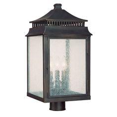 Capital Lighting 9117 Sutter Creek 3 Light Outdoor Lantern Post Light Medium Bronze Outdoor Lighting Post Lights Post Lights