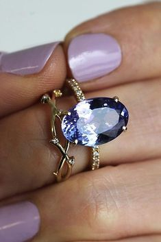Fine Jewelry Shop For Cheap Solid 18k White Gold Natural Stunning Blue Tanzanite Vvs Diamond Engagement Ring Moderate Price