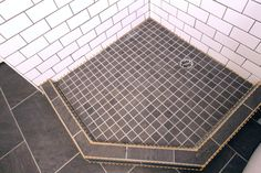 Tiled Bathroom Shower Pan
