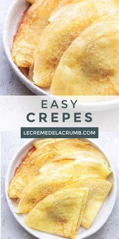 Crepes are quite simple to make! These thin, flat pancake-like confections are sweet and buttery delicious with all toppings. Both sweet and savory! Easy Crepe Recipe, Crepe Recipes, Waffle Recipes, Pancake Recipes, Simple Sweet Crepe Recipe, Breakfast Recipes, Dessert Recipes, Mexican Breakfast, Breakfast Sandwiches