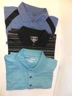 LOT OF 3! Men's Casual Golf Polo Style Shirts Shirt Grand Slam Safe Harbor-XL #GrandSlamSafeHarbor
