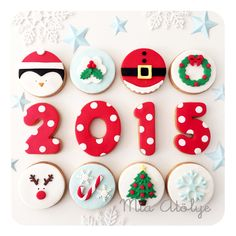 Fondant christmas cookies for 2015