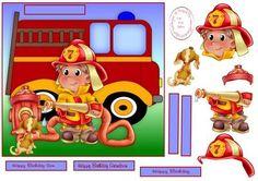 little firefighter on Craftsuprint - Add To Basket!