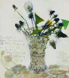 """huariqueje: """"  Dandelions from the banks of the Thames - Kurt Jackson British…"""
