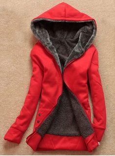Stylish Long Sleeves Solid Color Flocking Hooded Hoodie For WomenSweatshirts & Hoodies | RoseGal.com