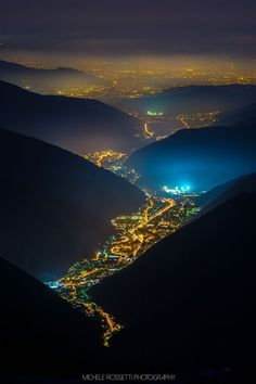 Valley of Lights, Val Trompia, Italy: