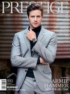 Armie Hammer.... I've never heard of him before Lone Ranger but damn he's good looking