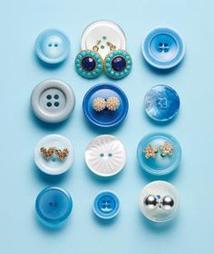 Button as Earring Holder: Travel is best done in pairs (think of Lewis and Clark or Thelma and Louise). To keep a set of earrings together on your next overnight jaunt, fasten them to a button so they won't get lost in your suitcase pocket.