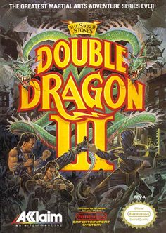 Double Dragon III: The Sacred Stones Nintendo Nes Game - Tested and Working - Video Game Classic Video Games, Retro Video Games, Video Game Art, Retro Games, Nes Games, Nintendo Games, Arcade Games, Super Nintendo, Game Boy