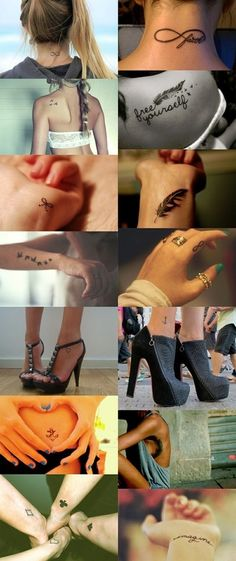 small  girly tattoos..love it