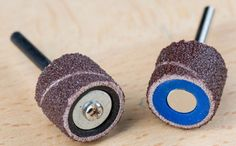 Dremel's new rotary tool EZ-change sanding mandrel makes quick work of changing sanding sleeves.