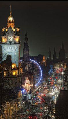 Night Lights - Edinburgh, Scotland , from Iryna