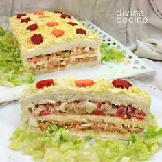 Recipe sandwich cake with bread - *Party foods, appetizers & Co. Tapas, Tee Sandwiches, Appetizer Recipes, Appetizers, Snacking, Good Food, Yummy Food, Sandwich Cake, Lemon Recipes
