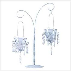 Gifts and Decor Mini Chandelier Hanging Metal Glass Votive Candle Stand * Check this awesome product by going to the link at the image. (This is an affiliate link and I receive a commission for the sales) Chandelier Centerpiece, Hanging Chandelier, Hanging Candles, Candle Centerpieces, Wedding Centerpieces, Chandeliers, Chandelier Wedding, Candelabra, Chandelier Ideas