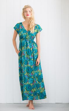 Lazybones - Maxi dress in Jasper. This style for my swapped boho rayon