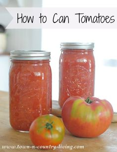 How to Can Crushed Tomatoes - enjoy their freshness throughout the winter months.