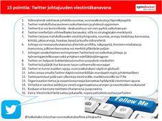 Twitter (johtajuuden) viestintäkanavana