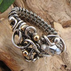 Ring - Thicket & Crystal & Sterling Silver - Wire Wrapped Jewelry    GravelRoadJewelry