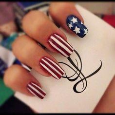 Patriotic nail idea