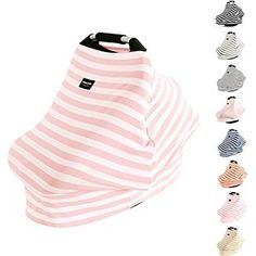 AMAZLINEN Universal Fit Multiuse Baby Car Seat CoversInfant Car Seat CanopyNursing In Breathable 360 CoverageUnisex Pink and White Stripe * You can find out more details at the link of the image. Pink And White Stripes, Cute Cars, My Baby Girl, Baby Feeding, Baby Gear, Canopy, Baby Car Seats, Nursing Covers, Infant