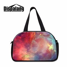 colorfu galaxy shoulder luggage travel bags for women sporty bag travel  carry on bag for girls 9704528619