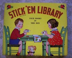 Vintage Platt and Munk Stick 'Em Library by PreserveCottage, $20.00