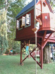 tree house with fireman pole - Google Search