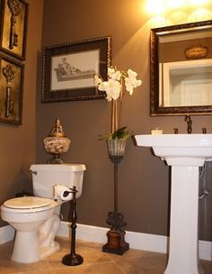 small powder room ideas | consider how long you plan on staying in