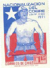 Sello postal, Minería Chile