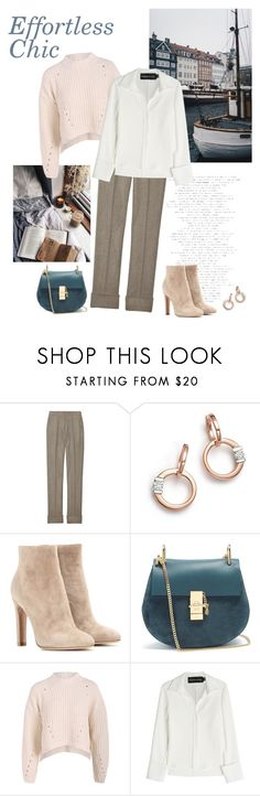 """Effortless Chic"" by isidora ❤ liked on Polyvore featuring STELLA McCARTNEY, Roberto Coin, Gianvito Rossi, Chloé and Brandon Maxwell"