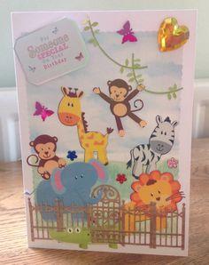 Zoo birthday card