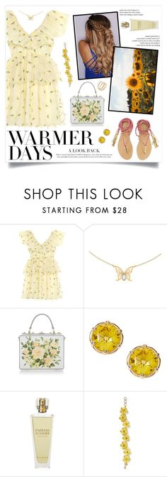 """""""Spring Dresses"""" by infinite-sea ❤ liked on Polyvore featuring Ganni, Dolce&Gabbana, Kat Burki, Ippolita and springdresses"""
