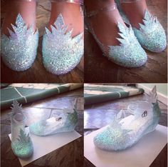 Elsa shoes - in process - by XkurisutaruXx