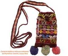 Nuestra nueva portada: carterita o bolso tejido en telar por artesanos de Pitumarca, Canchis, Cusco, Perú