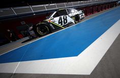 At-track photos: Las Vegas weekend  Sunday, March 12, 2017  Jimmie Johnson drives the No. 48 Kobalt Chevrolet through the garage area during practice for the Monster Energy NASCAR Cup Series Kobalt 400 at Las Vegas Motor Speedway on March 11, 2017 in Las Vegas, Nevada.  Photo Credit: Getty Images  Photo: 50 / 71