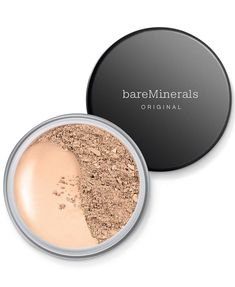 This foundation has a huge shade range for all different skin  tones and undertones. The amazing thing is that it contains SPF and is made with  five mineral ingredients, and is lightweight and buildable.   #bareminerals #powderfoundation #foundation #makeup #cosmetics #buildablefoindation Bare Minerals Foundation, Loose Powder Foundation, Mineral Foundation, Matte Foundation, Best Foundation, Bare Minerals Powder, Makeup Foundation, Foundation Online, Beauty