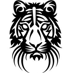 Tiger decal sticker for Car/Truck Window computer wall laptop cat bengal tribal Vector Drawing, Silhouette Stencil, Illustration, Vector Illustration, Drawings, Tiger Vector, Tribal Tiger, Art, Black Tattoos
