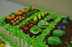 Garden Cake. I made one for one of Dad's birthdays. He loved it - seeing and having it;I don't know about eating it!