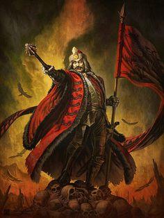 Vlad Tepes Dracula - sideshow vlad the impaler by monk - The Vampire Gallery Vlad Der Pfähler, Vlad El Empalador, Bram Stoker's Dracula, Count Dracula, Dark Fantasy, Fantasy Art, Dracula Castle, Vlad The Impaler, Vampire Art