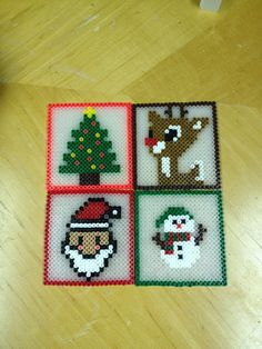 Christmas Coasters perler beads by kiimberrr