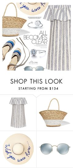 """""""Summer Style"""" by totwoo ❤ liked on Polyvore featuring Sea, New York, Soludos, La Ligne, Eugenia Kim and Ray-Ban"""
