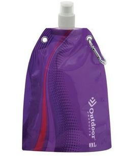 Outdoor Products Foldable Canteen - 1L (Purple) Outdoor Products