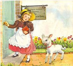 mother goose illustrations | ... had A Little Lamb Mother Goose Nursery Rhymes Illustration by Eulalie