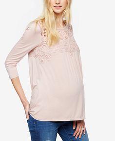49.99$  Buy now - http://viiym.justgood.pw/vig/item.php?t=1wj7p4s28795 - Maternity Lace-Trim Top 49.99$