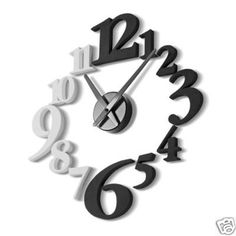 Pretty neat idea using some house numbers and a clock part found at any craft store! I would love to have this in my room!