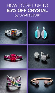 Shop and save big on gorgeous Swarovski rings, bracelets, earrings and more when you download Tophatter.
