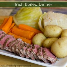 Irish Boiled Dinner - growing up in a suburb of Boston, mom made this delicious corned beef and cabbage meal every St. Patrick's day. What a treat!