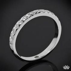 """Engraved Cathedral"" Wedding Ring    Simple, Elegant, and would look great on my hand.    #Whiteflash #Verragio"