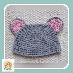 Items similar to Crochet Baby Hat, Novelty Baby Hat, Crochet Mouse Baby Hat on Etsy Crochet Mouse, Crochet Baby Hats, Baby Mouse, My Etsy Shop, Creative, How To Make, Handmade, Crafts, Stuff To Buy